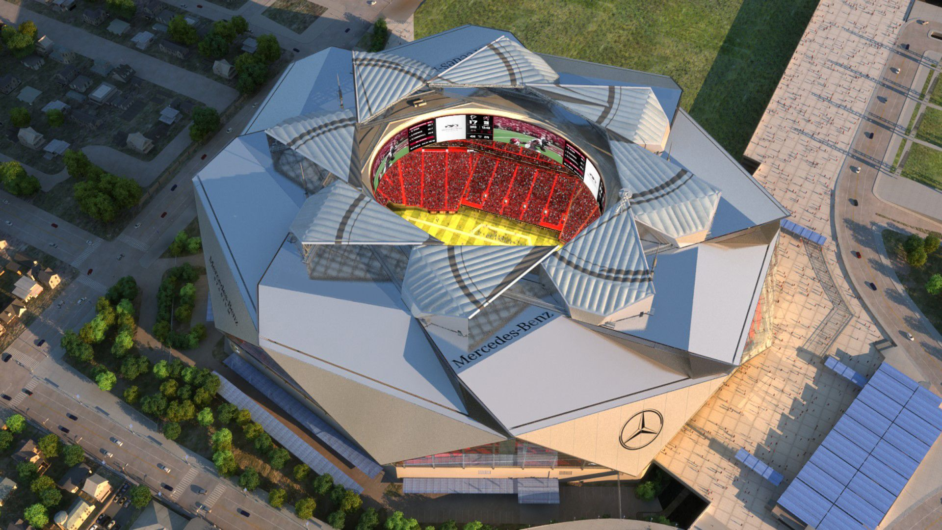 Mercedes Benz Stadium top Open