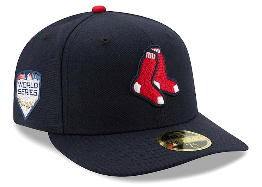 Men's Boston Red Sox New Era Navy 2018 World Series Champions Side patch 59FIFTY