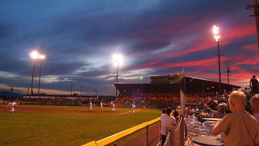 Kiger Stadium At Night