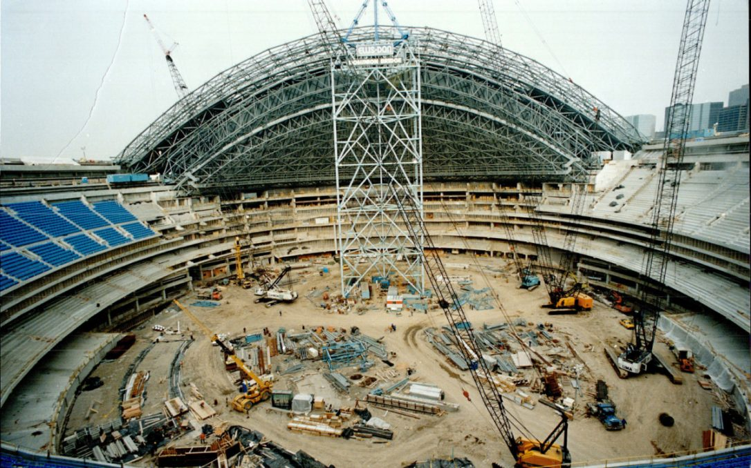 SkyDome Under Construction