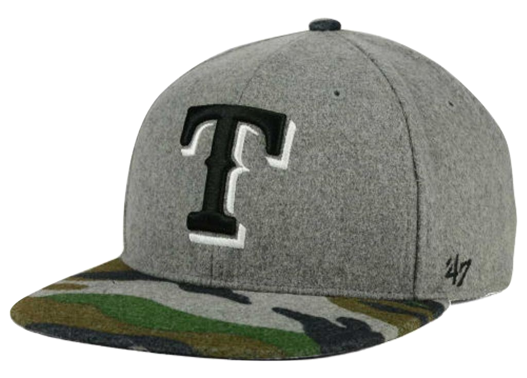 Texas Rangers MLB '47 Backwoods Snapback Cap