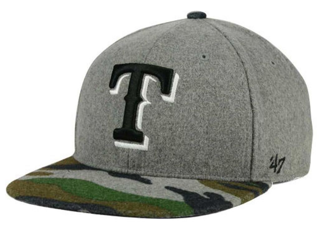 Texas Rangers MLB '47 Backwoods Snapback Cap