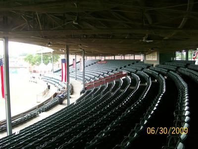 Bosse Field was one the first professional stadium to make the conversions from Wood construction to Concrete and Steel.