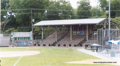 Hicks Field, North Carolina. Image from www.ballparksreviews.com