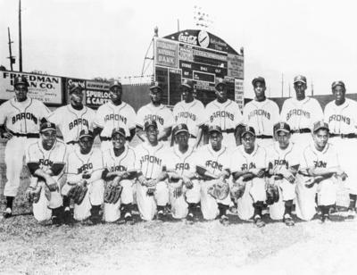 The Birmingham Black Barons played professional baseball for Birmingham, Alabama, in the Negro Leagues from 1920 to 1960 when the Major Leagues successfully integrated. They alternated home stands with the Birmingham Barons in Birmingham's Rickwood Field, usually drawing larger crowds and equal press.