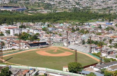 PALMAR DE JUNCO with the newer VICTORIA PLAYA GIRON stadium in the background