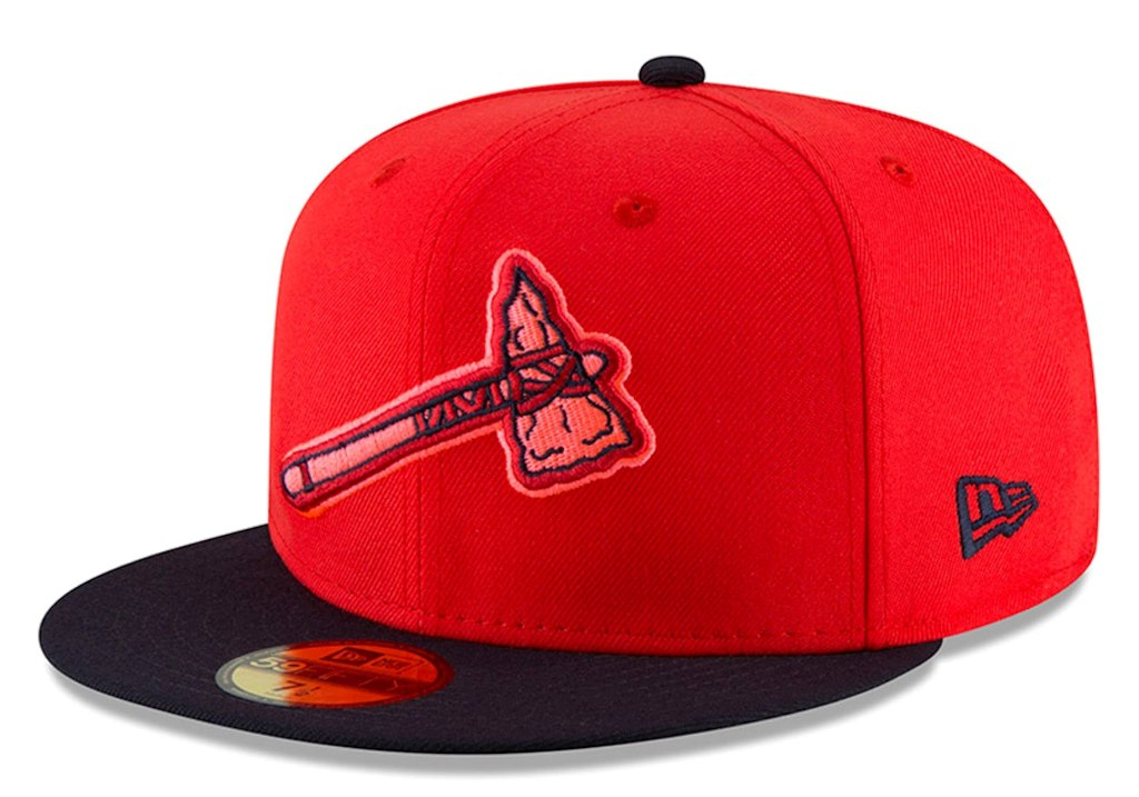 Men's Atlanta Braves New Era Red/Navy 2018 Players' Weekend Low Profile 59FIFTY Fitted Hat.