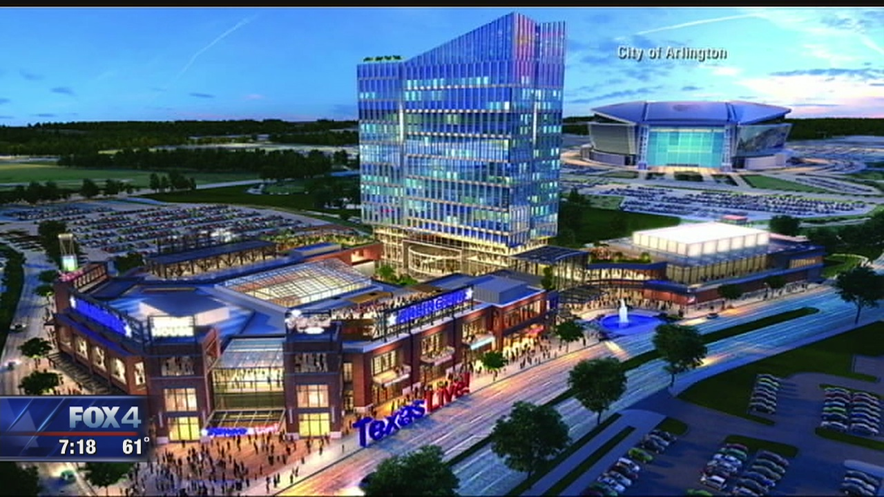 Artist rendering of the new Texas Live Project