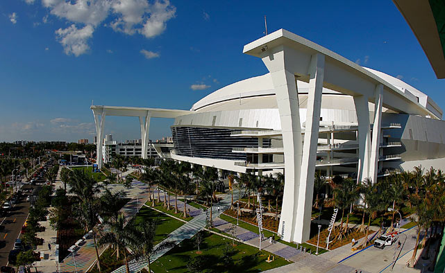 Marlins Park, an abstract, contemporary building combining baseball, Art and the essence Miami.  espn.go.com